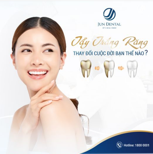 Tẩy trắng răng Super nano poririn tại nha khoa Jun Dental